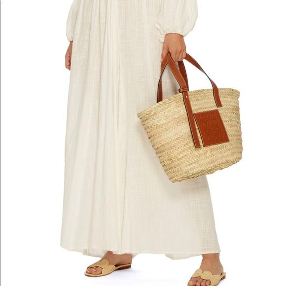 269194075fe Loewe Bags   Large Raffia Straw Basket Bag   Poshmark
